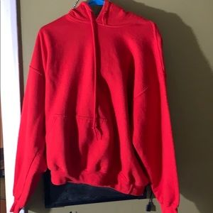 No tag hooded red sweatshirt (heavy) medium